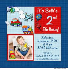 2nd birthday invitations boy a birthday cake