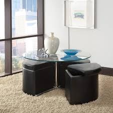 Storage Ottoman Blue Furniture Storage Ottoman Table Square Leather Storage