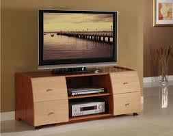 fascinating simple modern tv stand interior design with brown