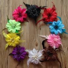flower hair accessories diy hair accessories baby feather flower hair handmade