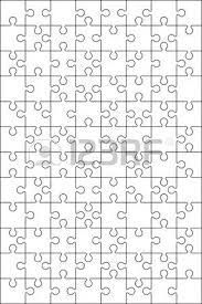 jigsaw puzzle vector blank simple template 4x4 royalty free