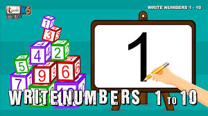 how to write numbers for children write numbers 1 10 writing