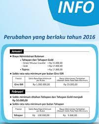 buat rekening tahapan bca biaya administrasi bulanan tahapan dan tahapan gold bca 2016