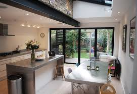 Kitchen Island Extension love to leave beams exposed for that industrial finish www