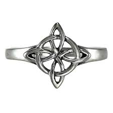 wiccan engagement rings sterling silver celtic quaternary wiccan witches knot ring sizes