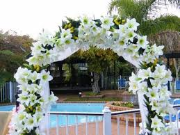 wedding arches hire indoor outdoor wedding ceremony silver package onsite decorations