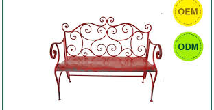 Metal Garden Chair Bench Red Garden Bench Beautiful Red Outdoor Bench Pretty Red