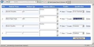 Delete All Rows From Table Dynamically Adding And Deleting Rows From Asp Net Gridview