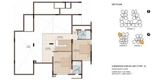 4 Bedroom Duplex Floor Plans Luxury Apartments Krs Road Mysore One