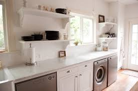 Kitchen And Laundry Design Our Bright White Open Kitchen Traditional Laundry Room