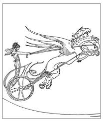 medea u0027s dragon chariot coloring free printable coloring pages