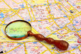 Hyde Park Chicago Map by Map Of London And Magnifier Glass Hyde Park Close Up Stock Photo