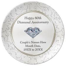60th wedding anniversary plate 60th wedding anniversary plates zazzle au
