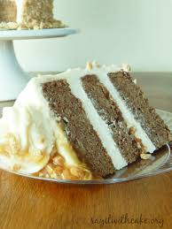 apple spice toffee cake with cream cheese frosting say it with cake