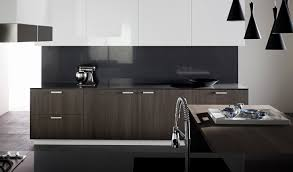 Crystal Kitchen Cabinets by Benchtop And Splashback Essatone French Black Upper Storage