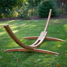 wooden arc hammock stand review