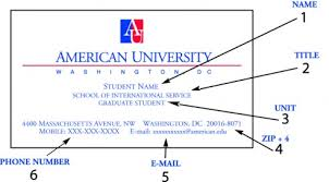 student business card delong lithograph business cards