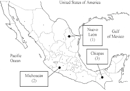 Michoacan Mexico Map by An Overview Of Biodiesel Production In Mexico Intechopen