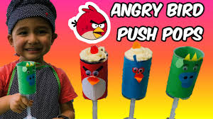 2 year old makes angry birds push up cake pops youtube