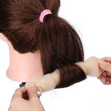 donut bun hair 2 1pcs sponge hair styling donut bun maker magic former ring