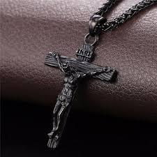 jesus crucifix necklace images Gold cross necklace inri crucifix jesus piece u7 jewelry jpg