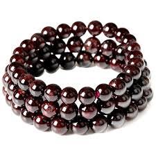 garnet bracelet images January birthstone natural garnet bead bracelet claret red jpg