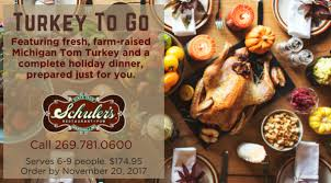 complete turkey dinner schuler s restaurant pub turkey dinner to go schuler s