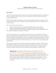 28 church bylaws template best photos of example of