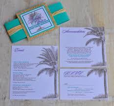 Lavender Wedding Invitations Pocket Fold Wedding Invitation Design Fee Purple And Aqua Palm