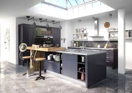 cuisine en u avec table cuisine en u avec ilot kitchens implantation with regard to con idee