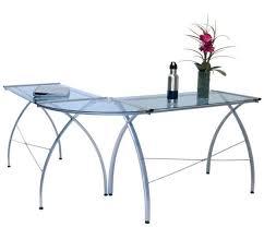 l shaped glass top desk u2013 whereibuyit com