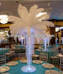 ostrich feather centerpieces artificial white ostrich feather for wedding decoration