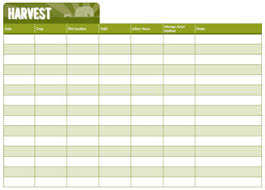Farm Record Keeping Spreadsheets by 7 Crop Record Keeping Charts Hobby Farms