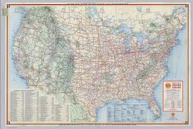 United States Map With Mileage Scale by Shell Highway Map Of United States David Rumsey Historical Map