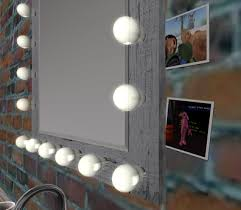 mirror with light bulbs second life marketplace vanity mirror with light bulbs