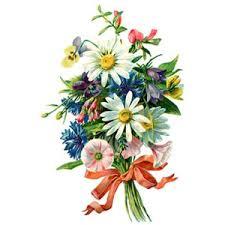 Spring Flower Bouquets - floral boquet tattoo design vintage spring flowers bouquet