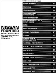 1999 nissan frontier repair shop manual 3 3l vg engine original