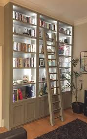 Library Bookcases With Ladder Custom Bookcase With Ladder Thesecretconsul Com