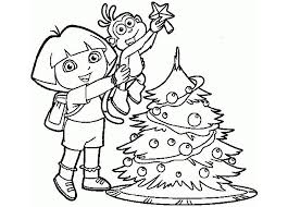dora christmas coloring pages resume collection