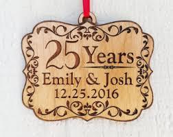 Anniversary Christmas Ornament Wood Ornament Etsy