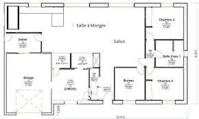 plan maison en l plain pied 3 chambres plan de maison 90m2 plain enchanteur plans de maison plain pied 3