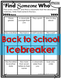 finding classmates back to school icebreaker find someone who or end of school
