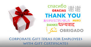 corporate gift ideas for employees with gift certificates