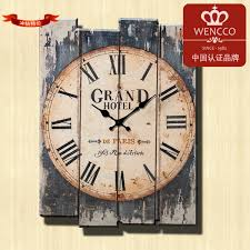 Large Shabby Chic Wall Clock by 30 40cm Modern Designed Craft Retro Vintage Rustic Wall Clock