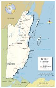Map Of Southern Caribbean by Political Map Of Belize Nations Online Project
