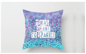 pillows with quotes sparkle throw pillow with glitter photo cover and ideal for elegance