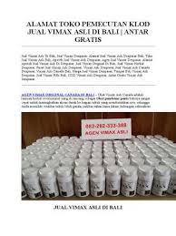 alamat toko pemecutan klod jual vimax asli di bali 082282333388