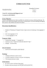 simple curriculum vitae for student resume templates