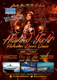haunted yacht nyc halloween dance cruise hornblower serenity yacht