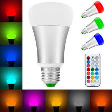 color changing light bulb with remote 10w e27 rgb w led bulb color changing remote control light free